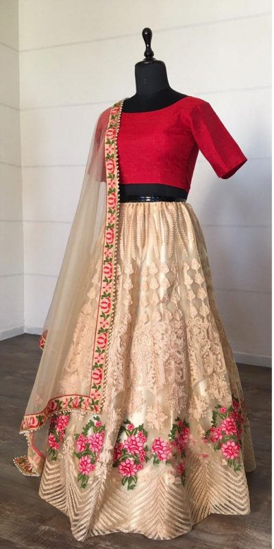 alluring-cream-color-net-with-embroidery-work-lehenga-choli