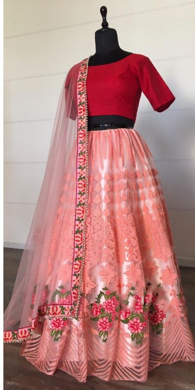 alluring-light-pink-color-net-with-embroidery-work-lehenga-choli
