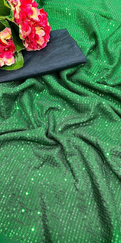 beauteous-green-color-georgette-sequence-work-saree