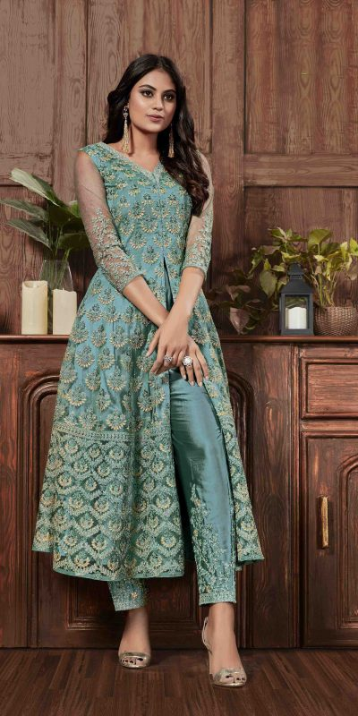beauteous-sea-green-color-heavy-net-with-embroidery-work-salwar-suit