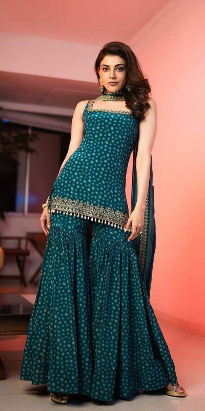 divine-kajal-in-peacock-blue-color-printed-party-wear-sharara-suit