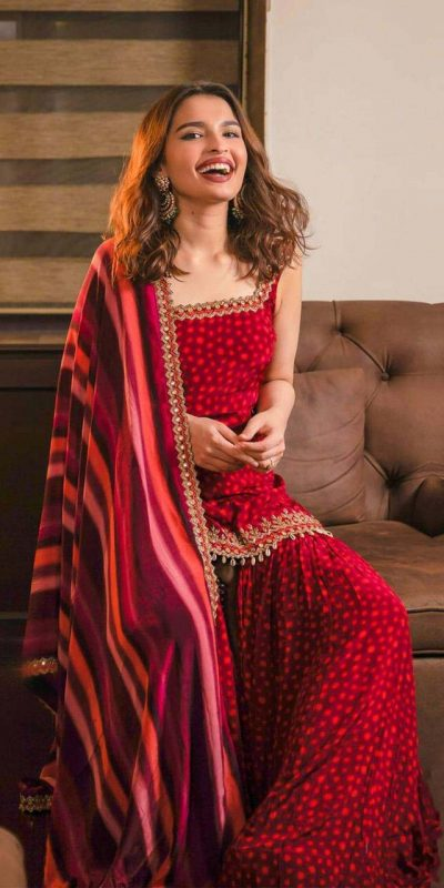 divine-red-color-crepe-silk-with-printed-party-wear-sharara-suit