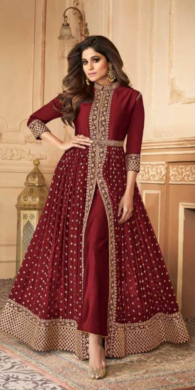 elegant-red-color-georgette-with-embroidery-work-anarkali-suit