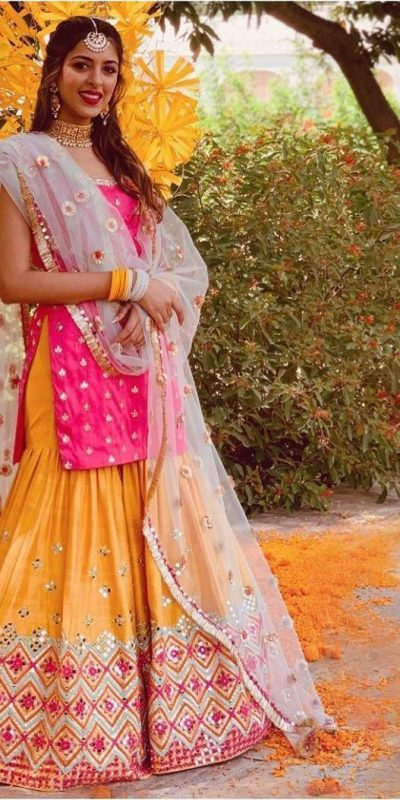 fabulous-pink-yellow-color-taffeta-silk-with-mirror-work-sharara-suit