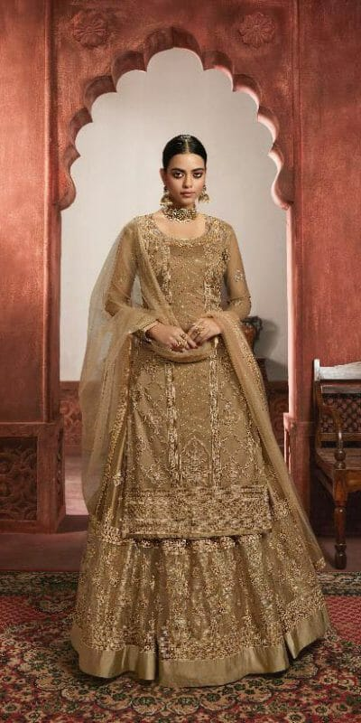 grand-looking-golden-color-heavy-net-with-multi-work-sharara-suit
