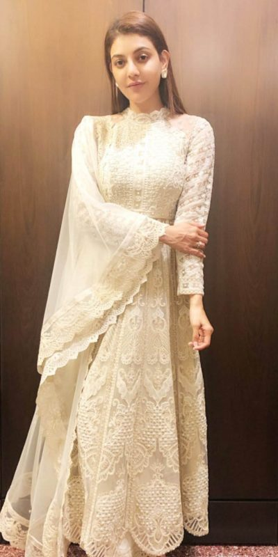 kajal-in-pretty-white-color-georgette-with-embroidered-plazzo-suit