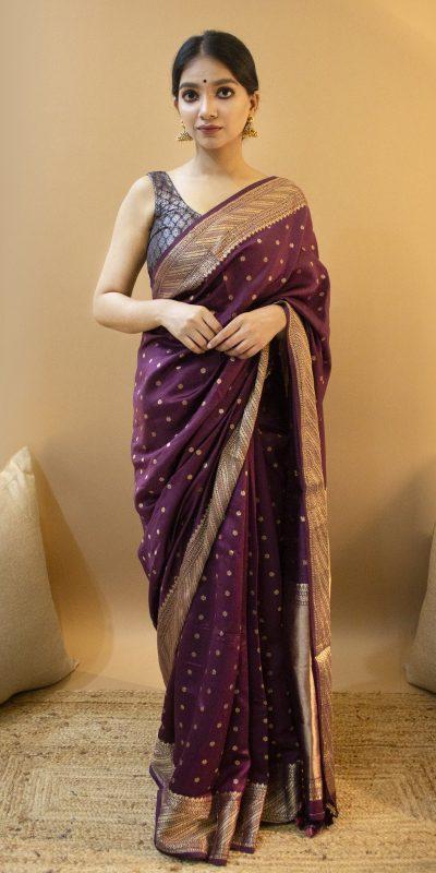stylish-traditional-purple-color-soft-lichi-silk-woven-jacquard-saree