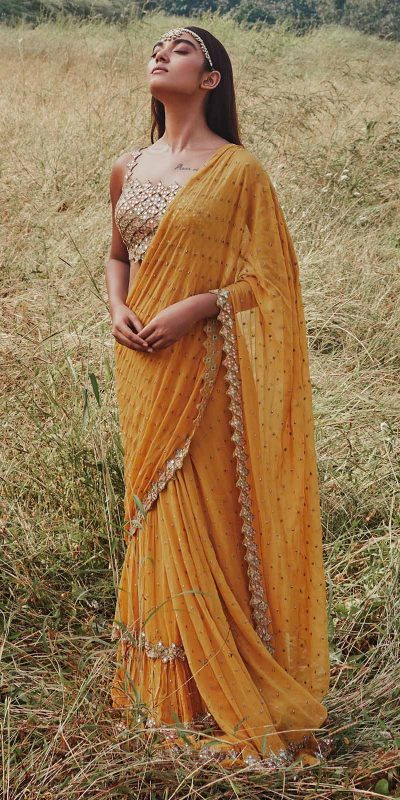fantastic-yellow-color-georgette-with-real-mirror-work-ruffle-saree