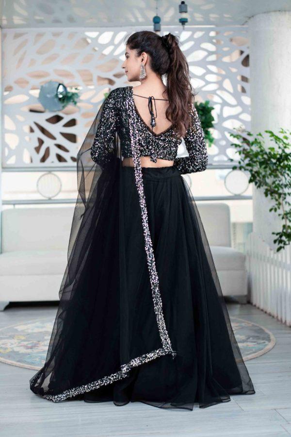 feminine-black-color-heavy-nylon-mono-net-lehenga