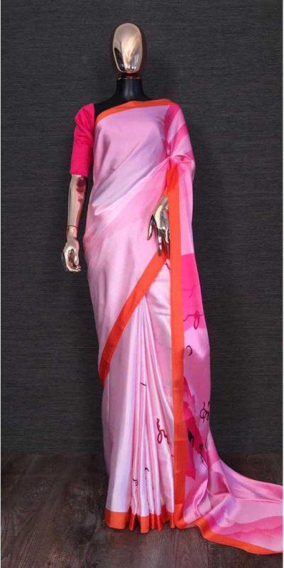 harmonious-pink-color-heavy-satin-with-digital-printed-saree