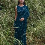heavenly-blue-color-georgette-with-embroidery-work-saree