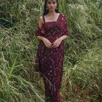 heavenly-maroon-color-georgette-with-embroidery-work-saree