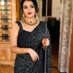 party-wear-black-color-georgette-sequence-work-saree-for-womens