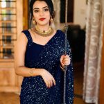 party-wear-blue-color-georgette-sequence-work-saree-for-womens