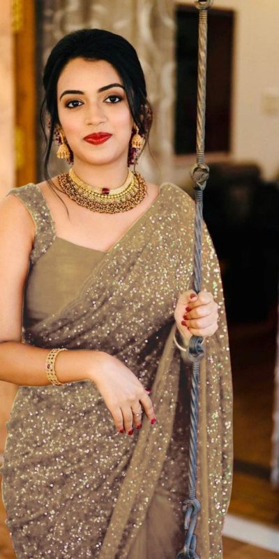 party-wear-grey-color-georgette-sequence-work-saree-for-womens