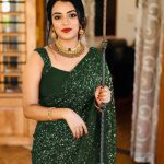 party-wear-green-color-georgette-sequence-work-saree-for-womens