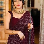 party-wear-purple-color-georgette-sequence-work-saree-for-womens