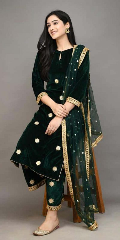 stylish-green-color-viscose-velvet-with-embroidered-plazzo-suit