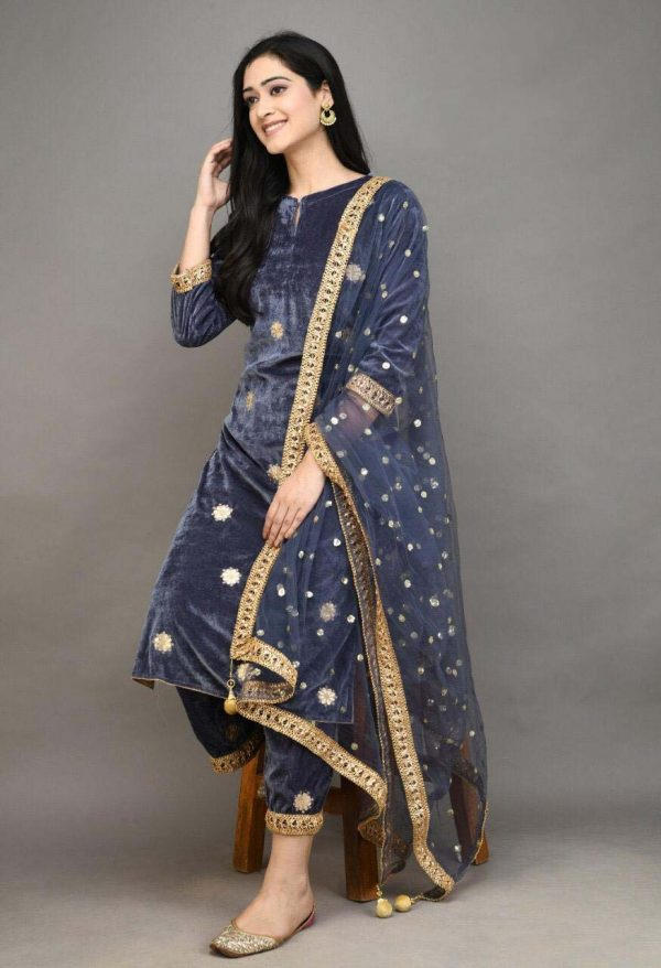 stylish-grey-color-viscose-velvet-with-embroidered-plazzo-suit
