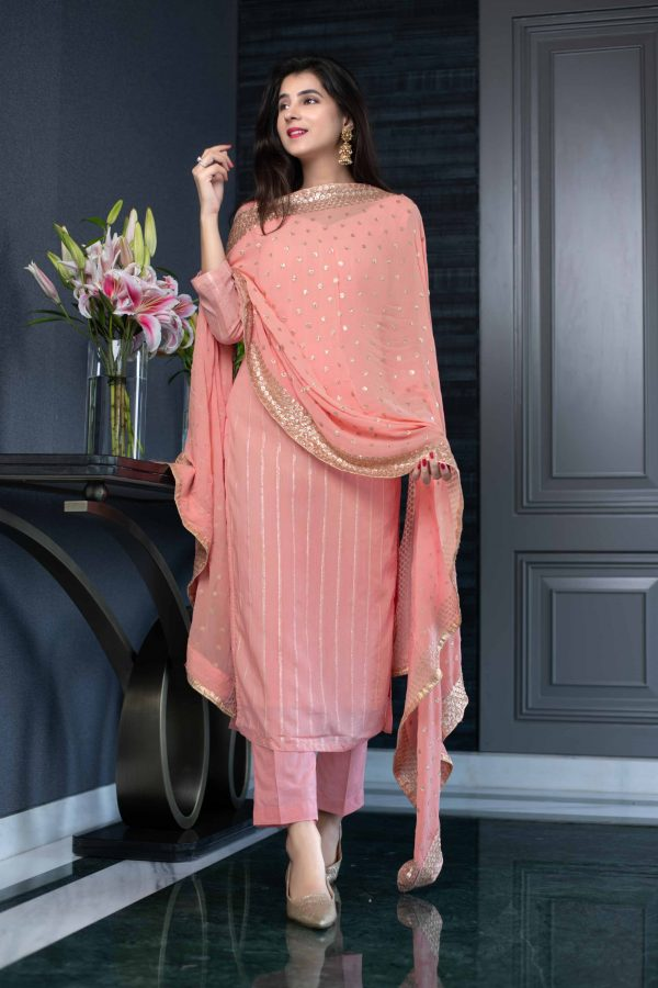 aglowing-orange-color-heavy-georgette-with-sequence-work-salwar-suit