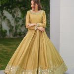 amazing-goldenrod-color-slub-silk-with-mirror-work-long-length-gown