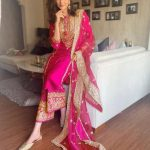 beautiful-karishma-tanna-in-pink-color-taffeta-with-embroidery-work-plazzo-suit