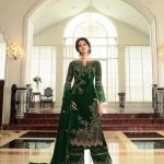 breathtaking-womens-green-color-georgette-with-embroidery-work-plazzo-suit