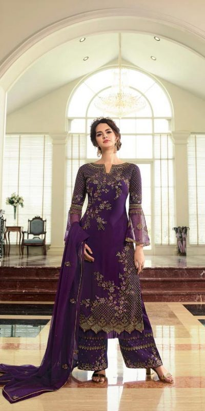breathtaking-womens-purple-color-georgette-with-embroidery-work-plazzo-suit