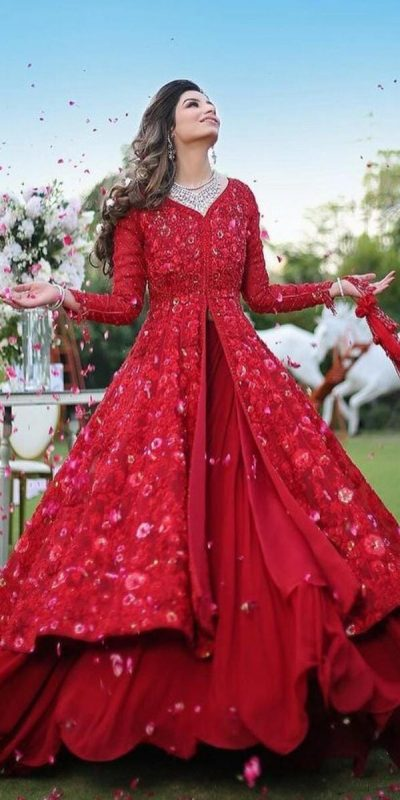harmonious-red-color-georgette-with-embroidery-work-party-wear-gown