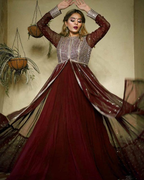 heavenly-maroon-color-georgette-with-embroidery-sequence-work-gown
