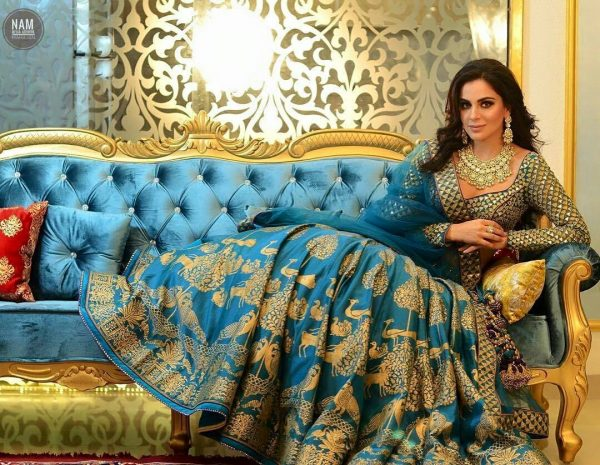 majestic-peacock-blue-color-silk-zari-with-printed-lehenga-choli