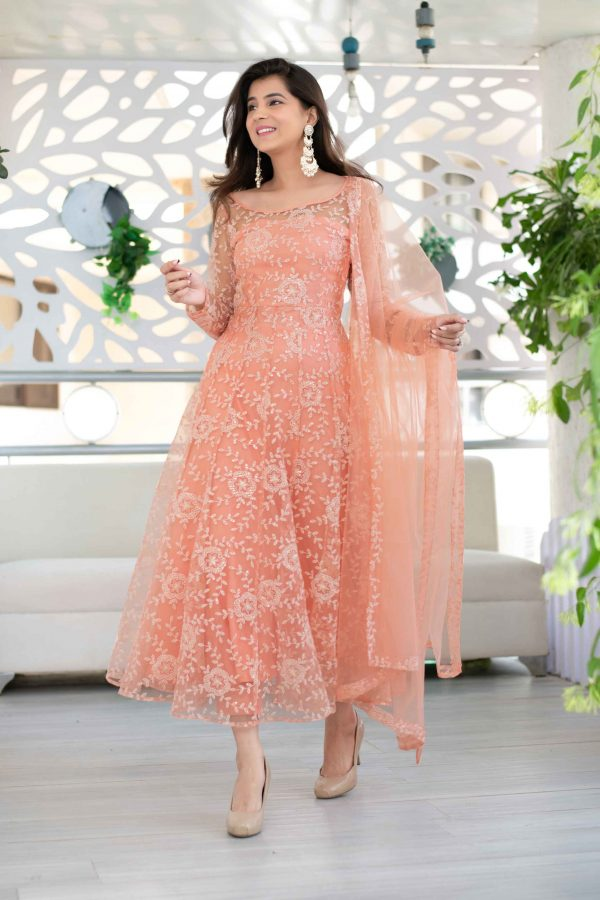 perfect-orange-color-butterfly-net-with-embroidery-work-salwar-suit