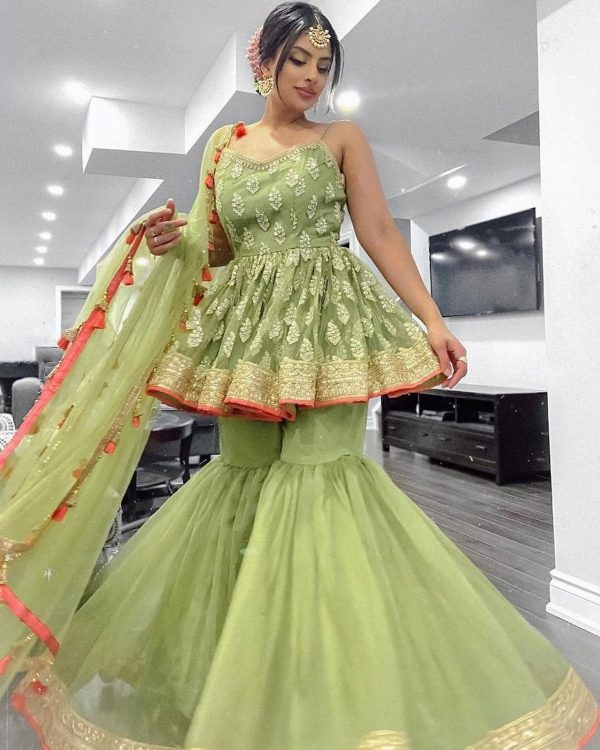 striking-green-color-butterfly-net-with-embroidery-work-sharara-suit