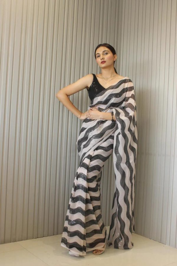 alluringly-white-black-color-60gm-georgette-with-heavy-sequence-work-saree