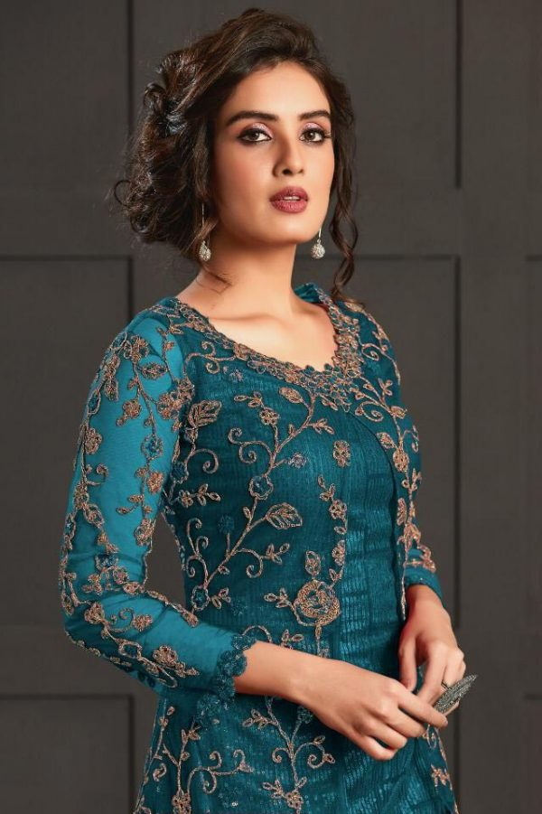 be-attractive-in-peacock-blue-color-net-with-embroidery-sequence-work-salwar-suit