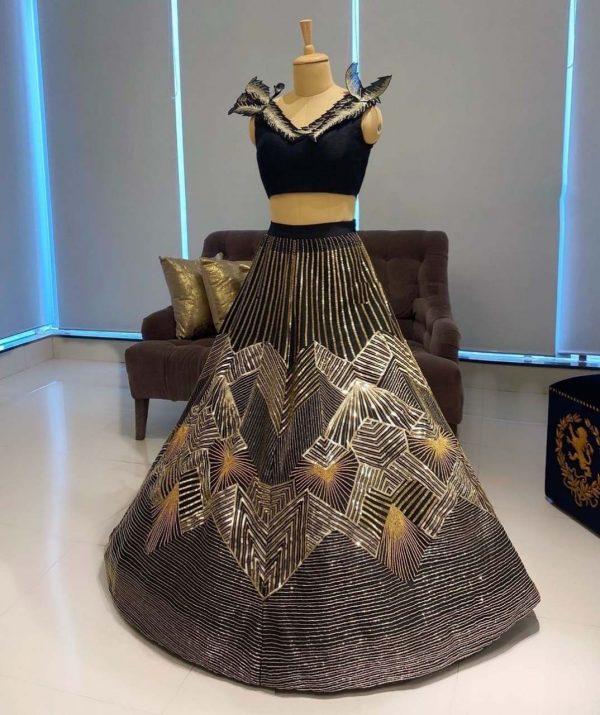 beautiful-black-color-velvet-with-attractive-golden-sequence-work-lehenga
