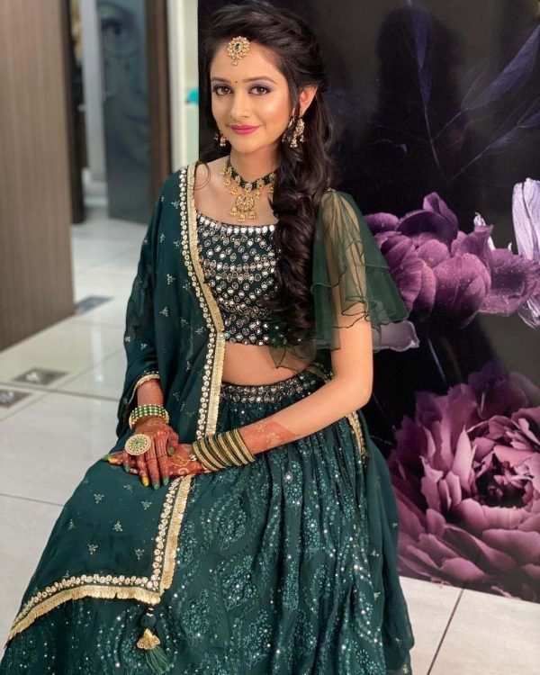dreamy-green-color-heavy-georgette-with-real-mirror-work-designer-lehenga