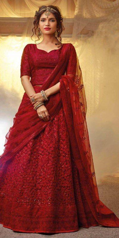 fantabulous-red-color-embroidery-diamond-work-festive-lehenga-choli