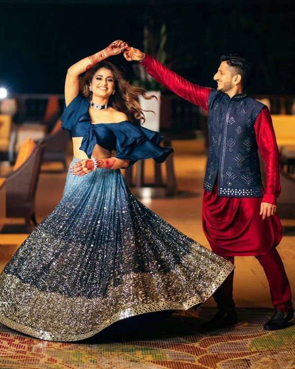 hypnotic-blue-color-georgette-with-beautiful-golden-sequence-work-lehenga