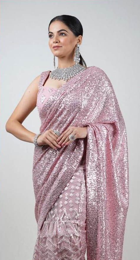 ideal-blush-pink-color-georgette-with-dazzling-sequence-work-saree
