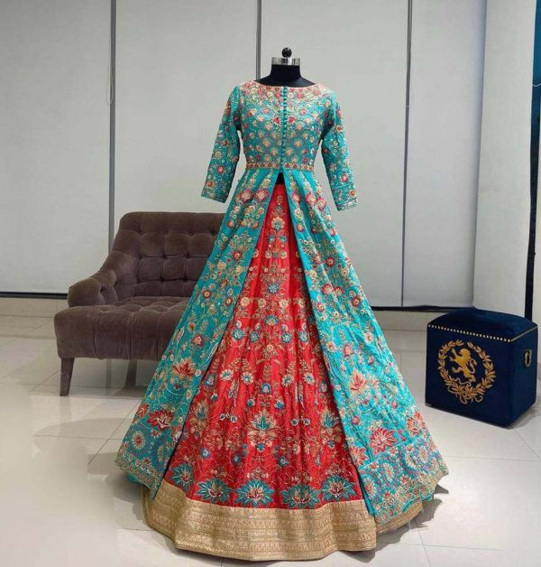 ideal-sky-blue-color-heavy-taffeta-with-embroidery-work-party-wear-salwar-lehenga
