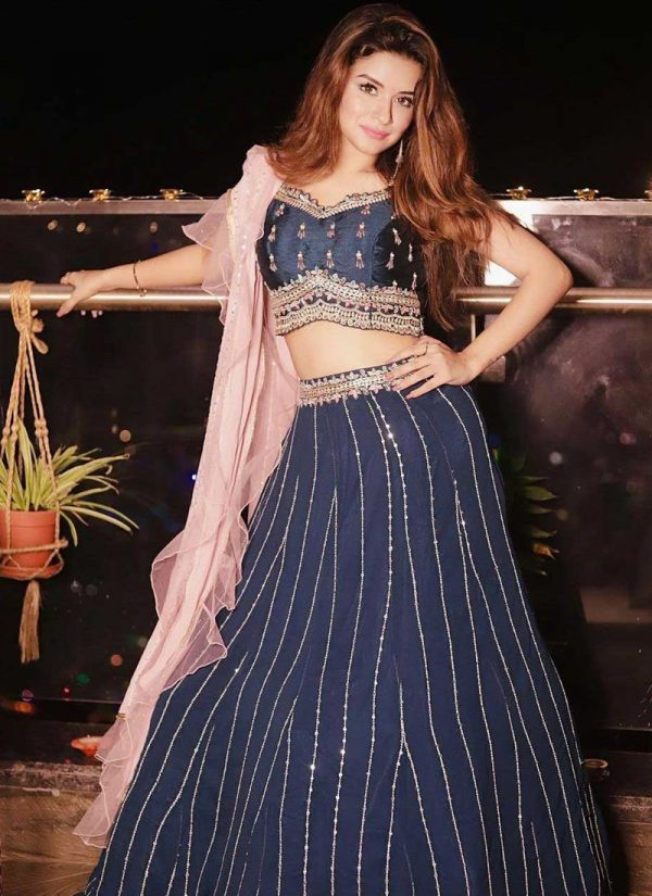 impeccable-navy-blue-color-georgette-with-sequence-embroidery-work-lehenga