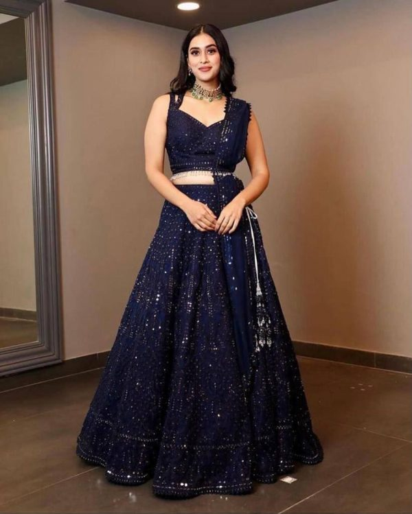 luminous-blue-color-rayon-cotton-with-sequence-work-party-wear-lehenga-choli