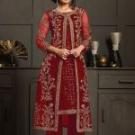 perfect-dazzling-red-color-heavy-butterfly-net-coding-work-salwar-suit