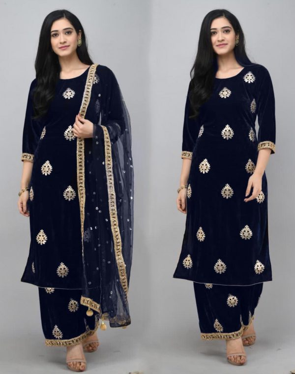 pretty-navy-blue-color-viscose-velvet-with-embroidered-plazzo-suit