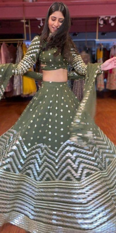 striking-green-color-heavy-georgette-with-sequence-work-designer-lehenga