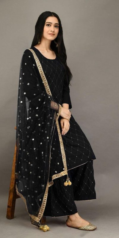 stunning-black-color-heavy-rayon-with-embroidery-mirror-work-plazzo-suit
