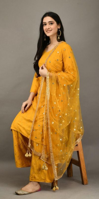 stunning-yellow-color-heavy-rayon-with-embroidery-mirror-work-plazzo-suit