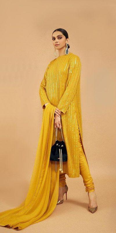 angelic-deepika-padukone-in-yellow-color-party-wear-salwar-suit