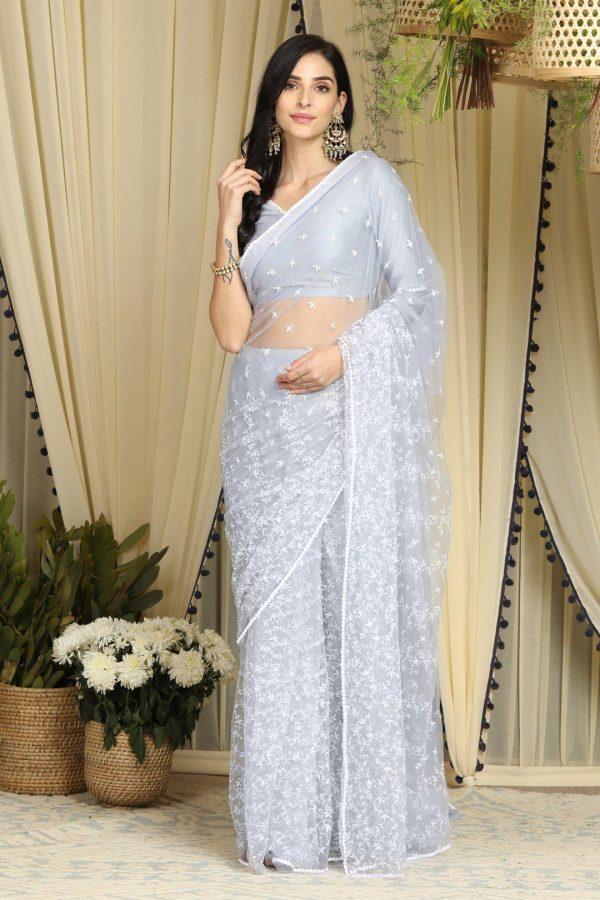 attractive-light-grey-color-nylon-mono-net-party-wear-saree